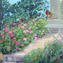 Betchat, France, Patio, 12x16 in, Sold